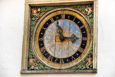 Community clock in Tallinn, Estonia.