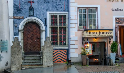 Many varied architectural styles are seen in Tallinn, Estonia.