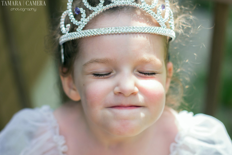 a birthday party picture of a young girl wearing a tiara ready to blow out her candles