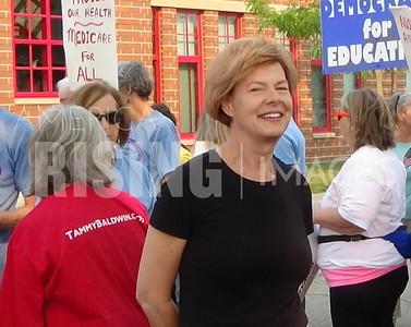Tammy Baldwin At 126th Labor Day Parade In  La Crosse, WI