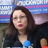Tammy Duckworth At Press Conference In Chicago, IL