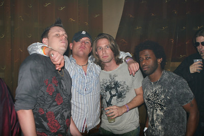 DJ Shaykee... Russ (ClubFM Radio)... Miami Mike, J Hall... and Reno sipping on a drink in the back...