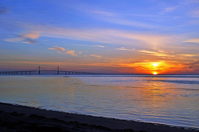 8_25_18 Sunshine Skyway Bridge at Sunrise