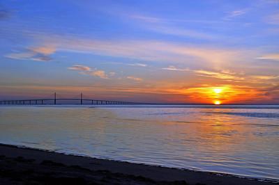 8_25_18 Sunshine Skyway Bridge at Sunrise