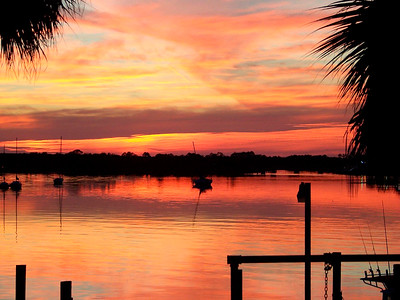 5_9_19 Sunset on Carrabelle Harbor