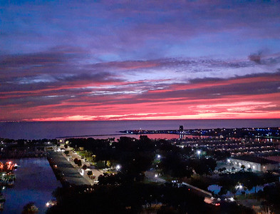 Early morning sky over Tampa Bay