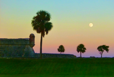 7_20_20 Moon over St  Augustine