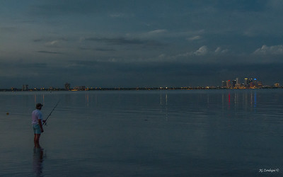 Night fishing in Hillsborough Bay
