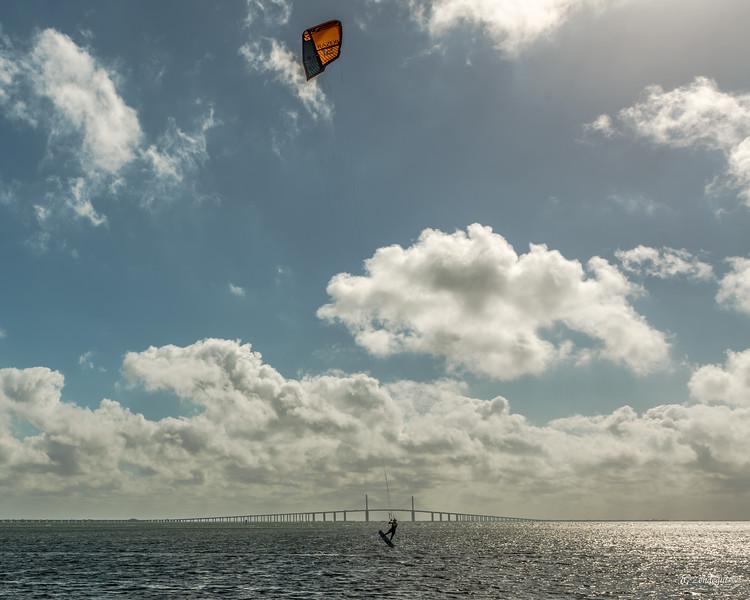 Kitboard Jump Mid-span