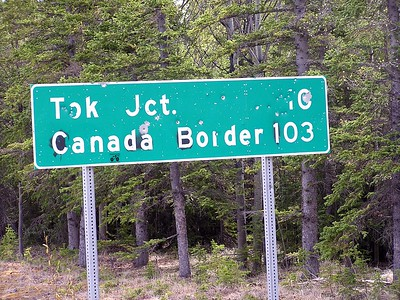 I was surprised to see we were this close of the Canadian border.  Why do people want to shoot up signs like this?