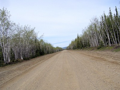"""""""Dusty"""" our loyal and faithful GPS servant told us to drive down this dirt road.  We did as we were told."""
