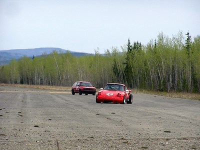 Before we reached the entrance to the Tanacross Airport, we heard and then saw......racing!