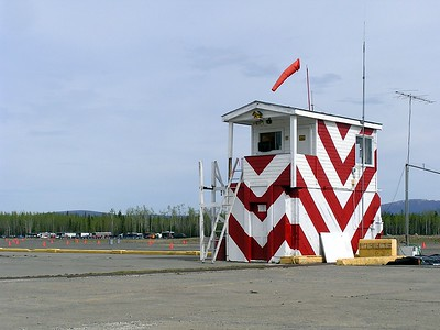 The Tanacross Airport was built during World War II.  It's now used by the Bureau of Land Management to help with firefighting.