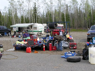 I know this guy brought everything that was in his garage, but can he find what he needs when he needs it?
