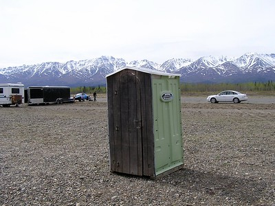 Even the outhouse was located in a scenic location.