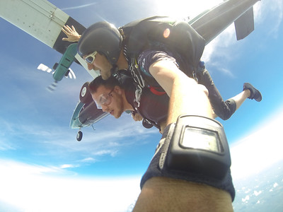 Jacob Funk tandem skydiving