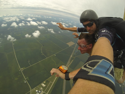 James Smith tandem skydiving