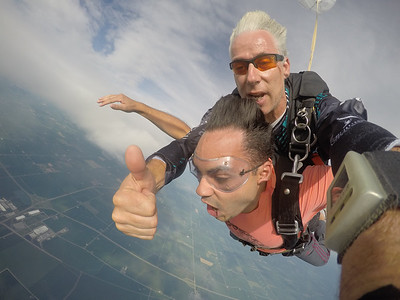 Joe Hallak tandem skydiving