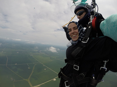 Zainab Zarzour tandem skydiving