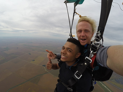 James Bufford tandem skydiving