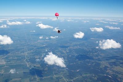 Johnathan Saunders's Tandem Skydive