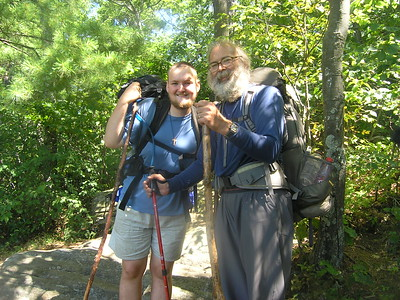 On our way to a viewpoint, we met a couple of Appalachian Trail thru hikers.
