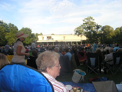 We hustled over to Tanglewood, but alas were 15 minutes late. With hundreds of people taking prime spots on the lawn we don't blame our group quickly taking up space after waiting for us a short while.