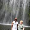 Hike to Mt. Kilimanjaro waterfalls: Philip and Jenee.