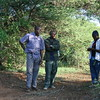 Philip and our guides watch the action.  Lake Eyasi