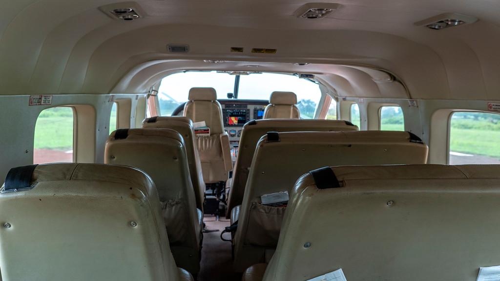 Coastal Aviation small passenger plane in Tanzania