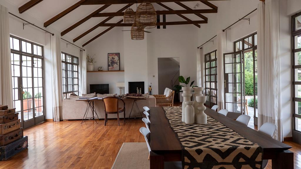 Living room at Lemala Villas in Arusha Tanzania