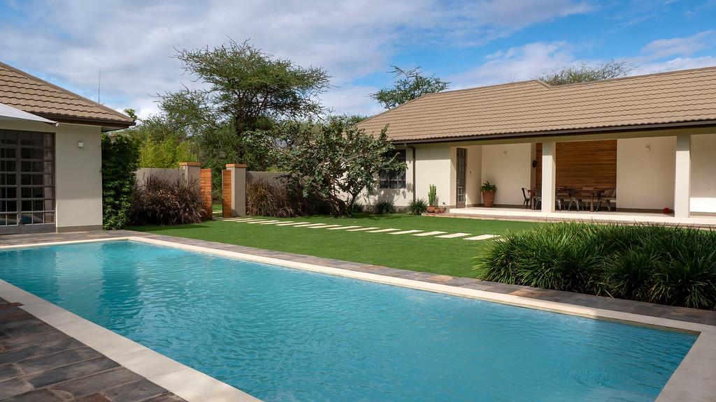 Swimming pool at Lemala Villas in Arusha Tanzania