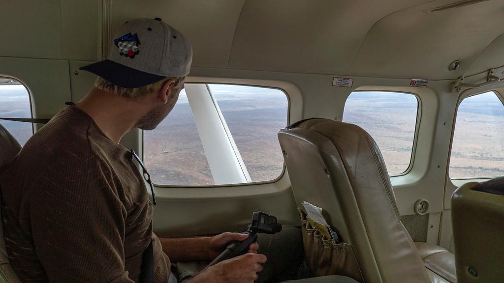 Coastal Aviation plane between Arusha and Tarangire National Park, Tanzania