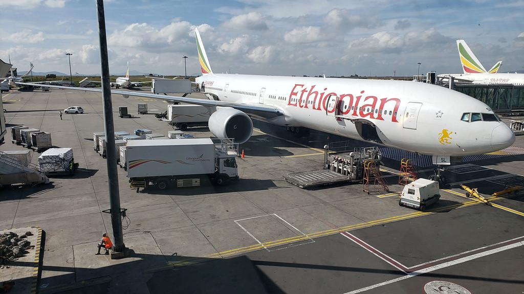 Ethiopian airlines plane in Addis Ababa, Ethiopia