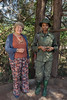 Woman game ranger with a park visitor, Arusha National Park, Tanzania