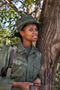 Portrait of a woman game ranger, Arusha NP, Tanzania