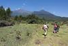 Walking towards Maio Falls of the Jekukumia River below Mount Meru 1, Arusha NP, Tanzania