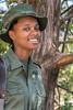 Smiling woman ranger, Arusha National Park, Tanzania