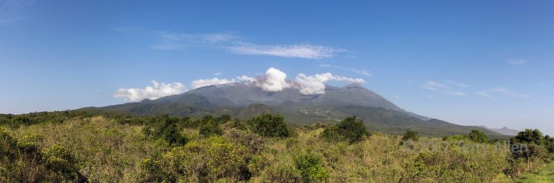Mount Meru panoramic, Arusha National Park, Tanzania
