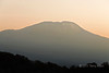 Sunrise hitting the top of Mt Kilimanjaro seen from Arusha NP, Tanzania
