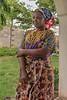 Farmer's wife in traditional attire, Arusha, Tanzania