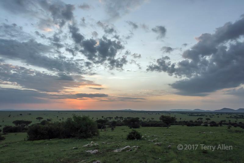 Sunrise in the Grumeti Game Reserve, Serengeti, Tanzania