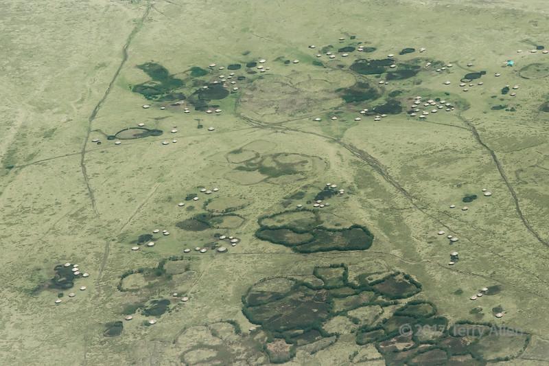 Maasai rondavels and kraals