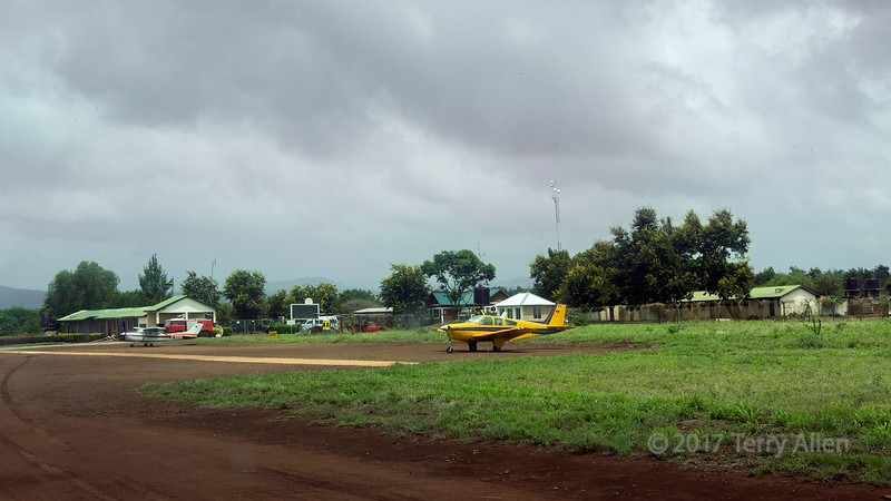 Lake Manyara airport, with two small Cessnas on the ground, Manyara, Tanzania<br /> <br /> add keywords