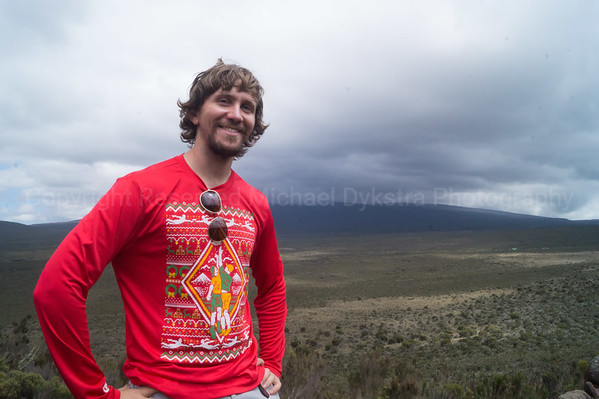 Can you see the huge, 19,000ft peak in the background??? Me neither. But at least you can see my Ultimate Frisbee Ugly Sweater jersey, which served me very well on the hike.