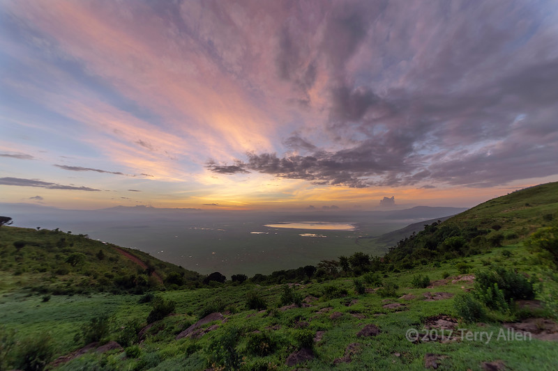 Dawn overlooking the Ngorongoro Caldera, Tanzania