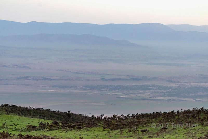 Ngorongoro Caldera and crater rim, Tanzania