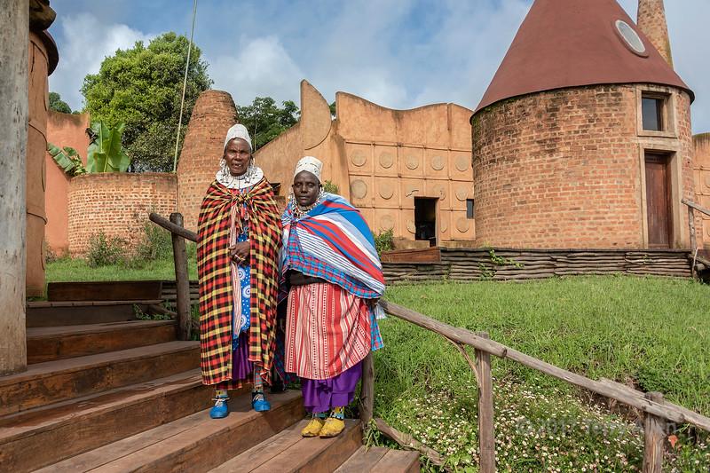 Maasai women elders in traditional attire, Ngorongoro Crater Lodge, Tanzania