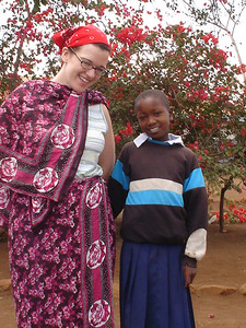 Sara and her sponsor child Adeliene