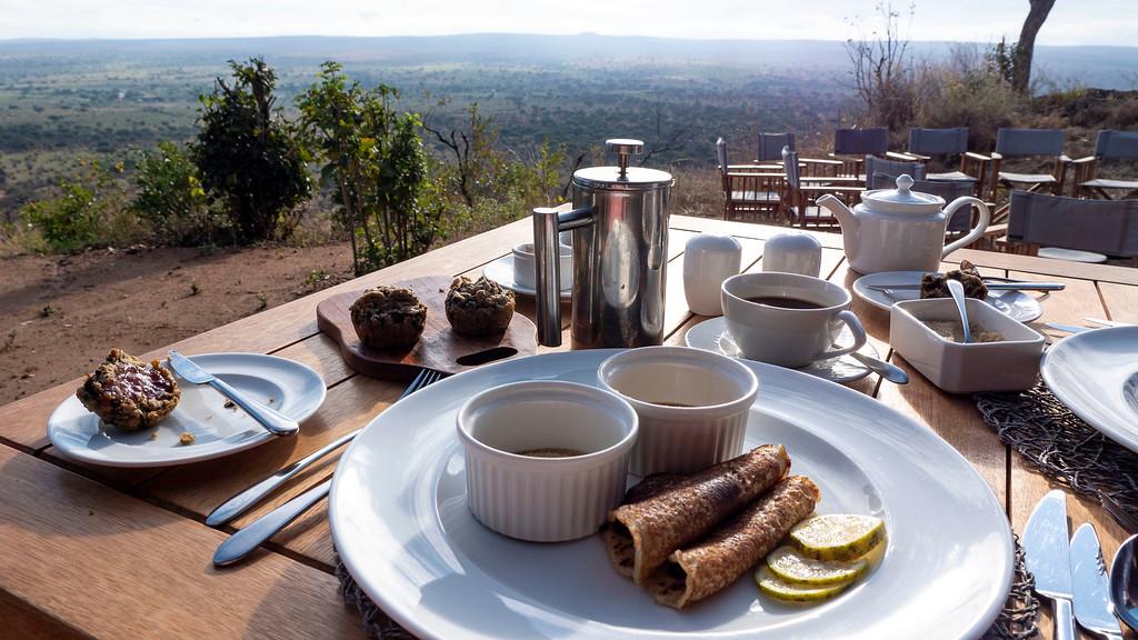 Breakfast at Lemala Mpingo Ridge in Tarangire National Park Tanzania